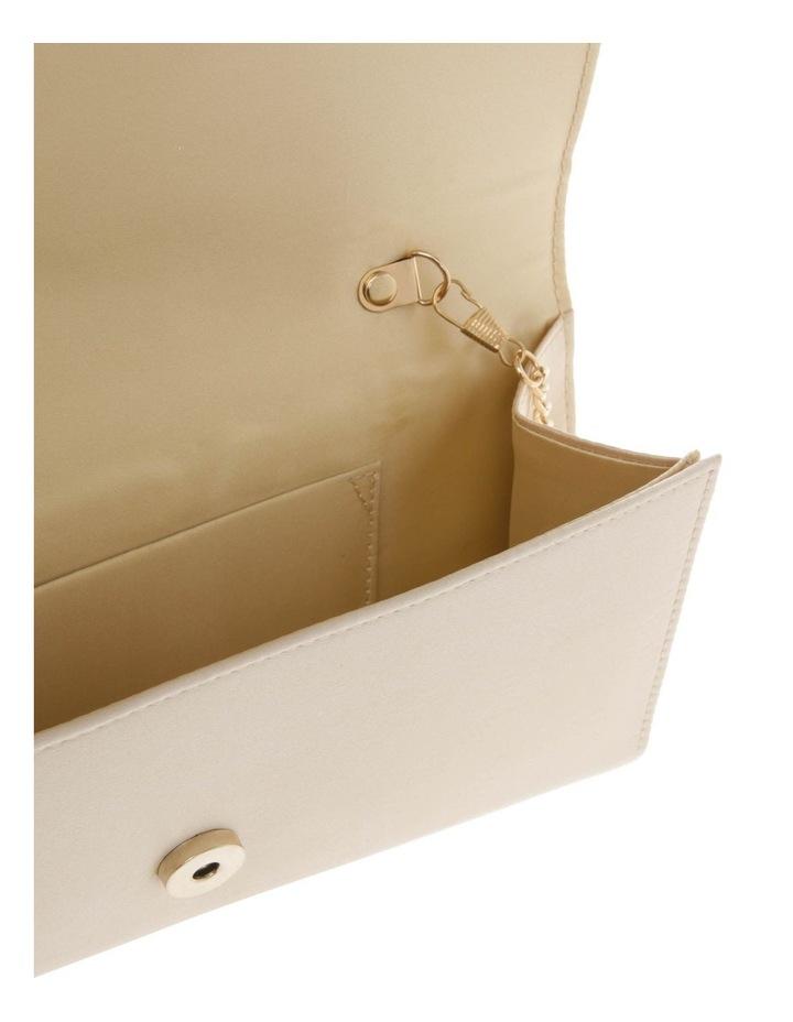 Athena Glitter Flap Over Gold Clutch Bag image 4
