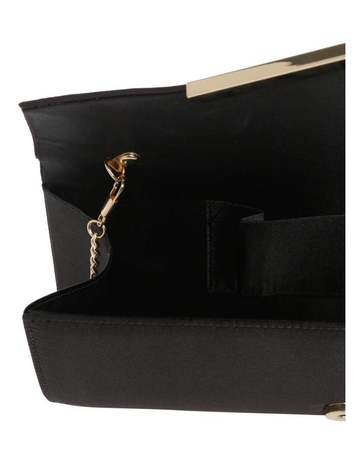 Demitra Satin Flap Over Clutch Bag image 4