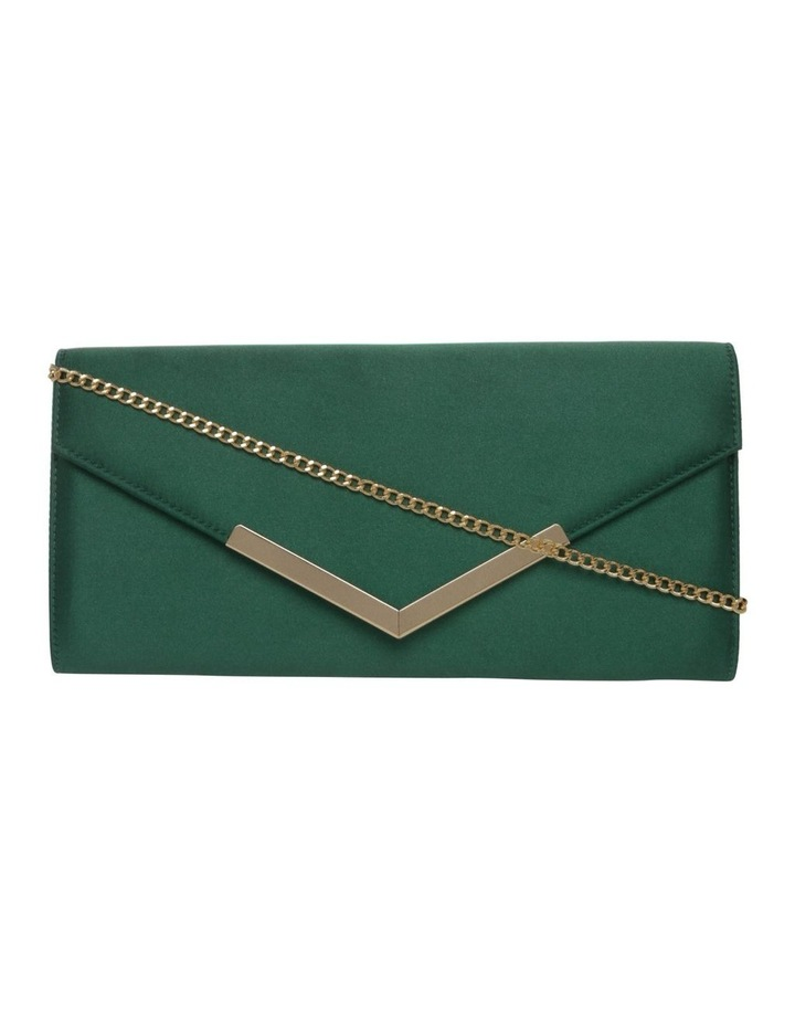 Demitra Satin Flap Over Clutch Bag image 1