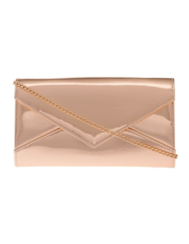 Xena Patent Flap Over Clutch Bag image 1