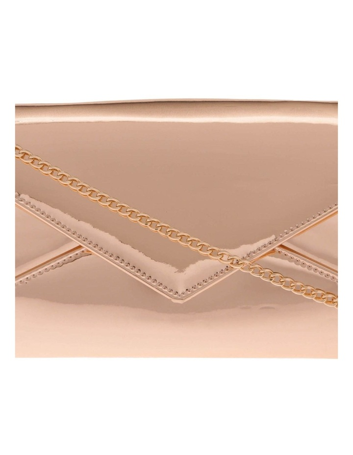 Xena Patent Flap Over Clutch Bag image 3