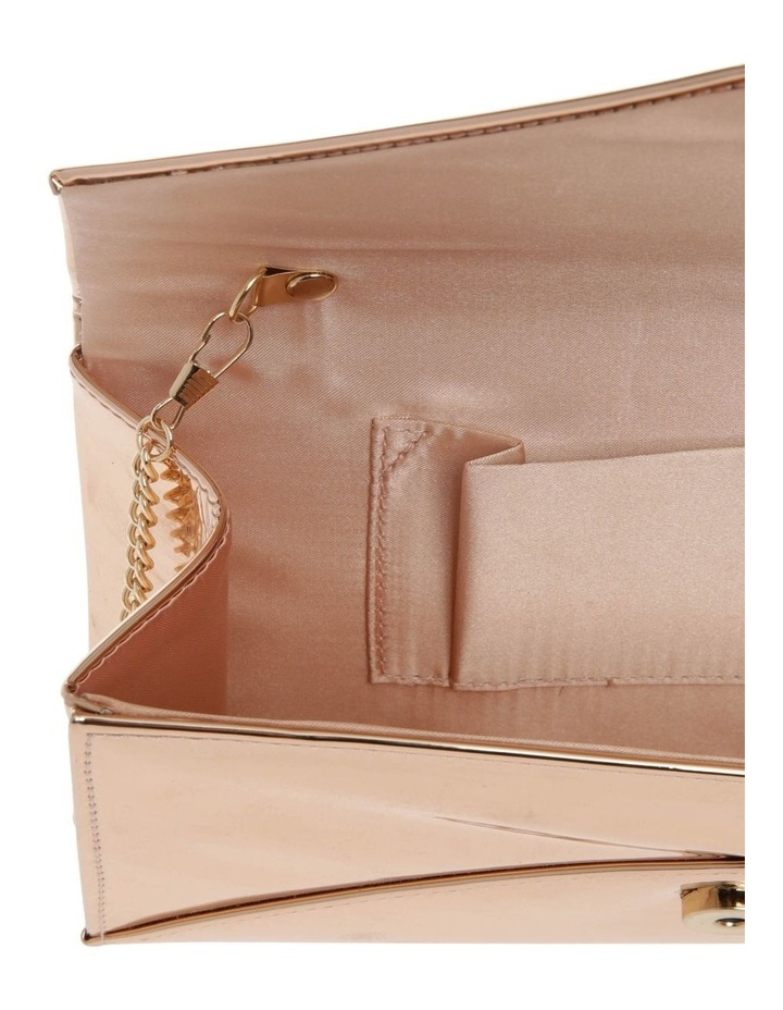 Xena Patent Flap Over Clutch Bag image 4