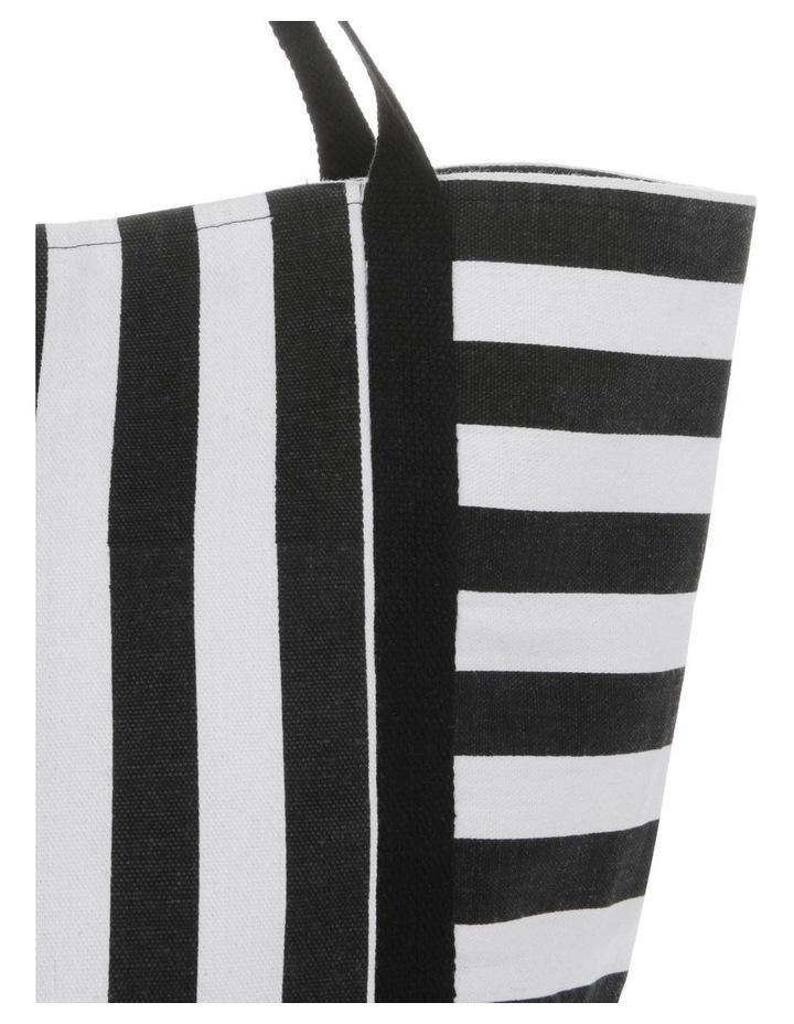 Block Stripe Double Handle Tote Bag image 3