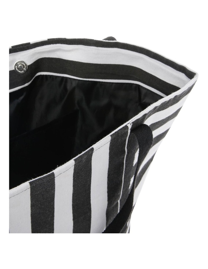 Block Stripe Double Handle Tote Bag image 4