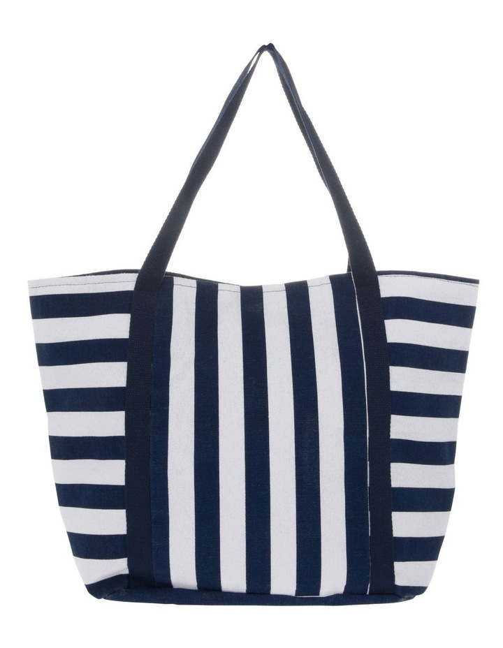Block Stripe Double Handle Tote Bag image 1