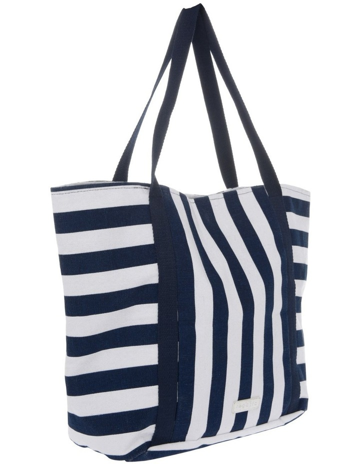 Block Stripe Double Handle Tote Bag image 2