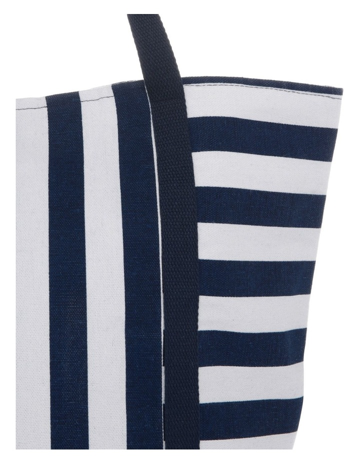 Block Stripe Double Handle Tote Bag image 3