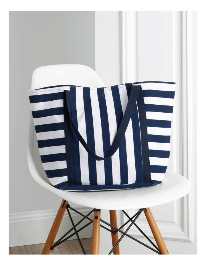 Block Stripe Double Handle Tote Bag image 5