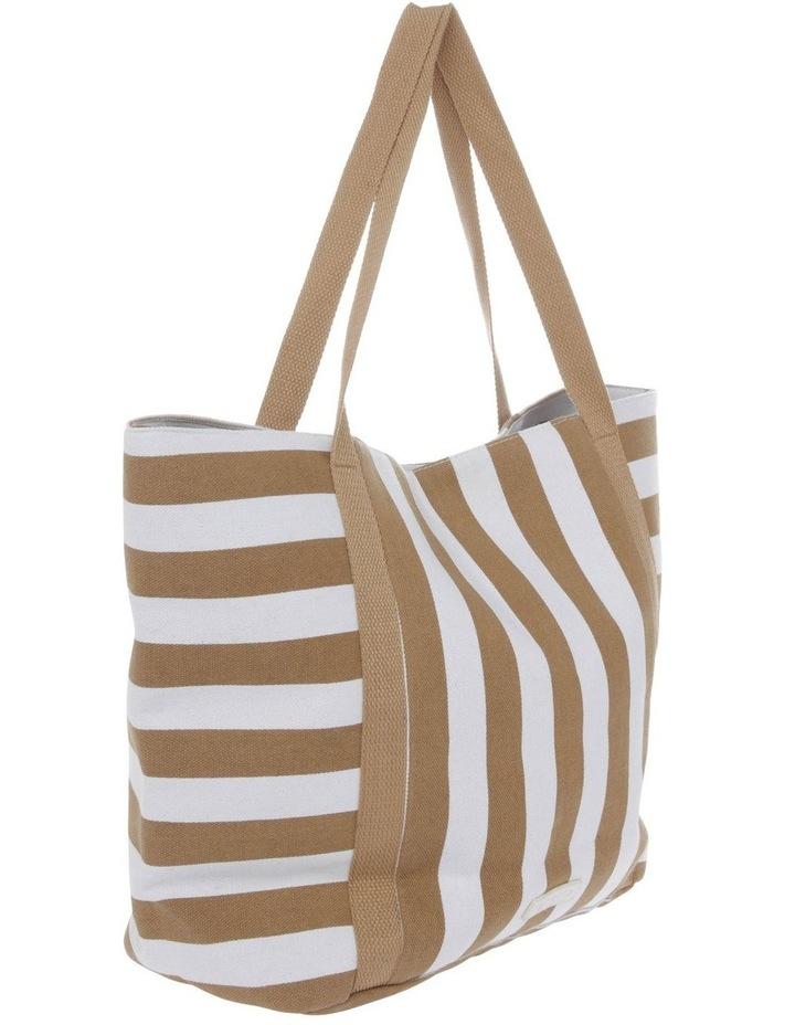 Block Stripe Double Handle Tote Bag image 2