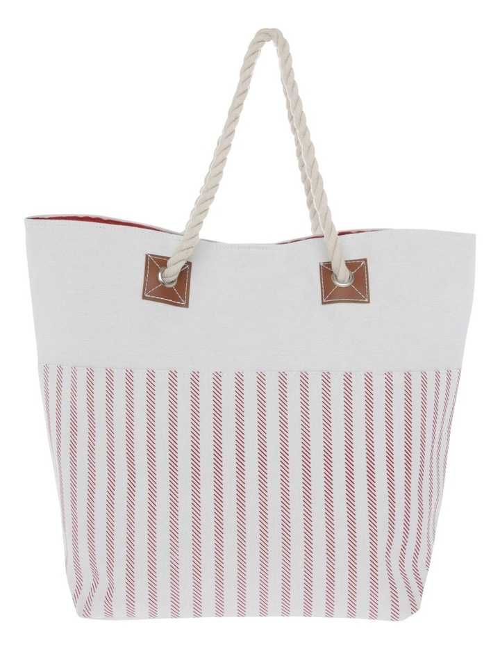 Thin Stripe Double Handle Tote Bag image 1