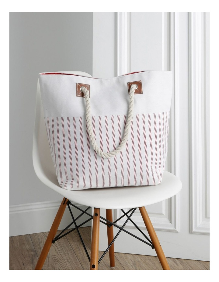 Thin Stripe Double Handle Tote Bag image 5