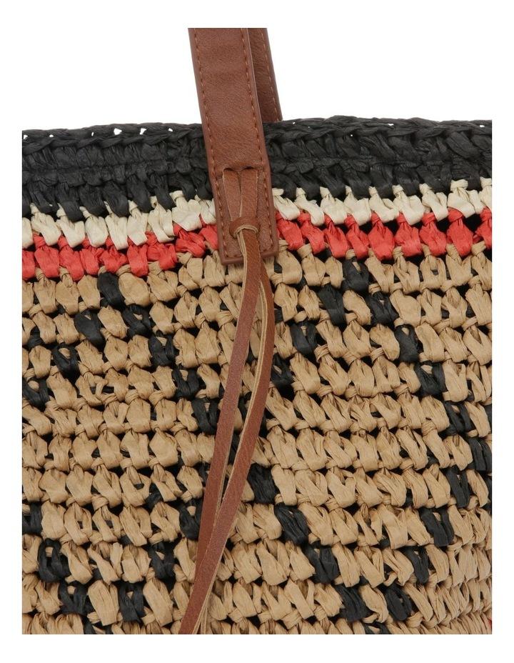 Multi Stripe Double Handle Tote Bag image 3