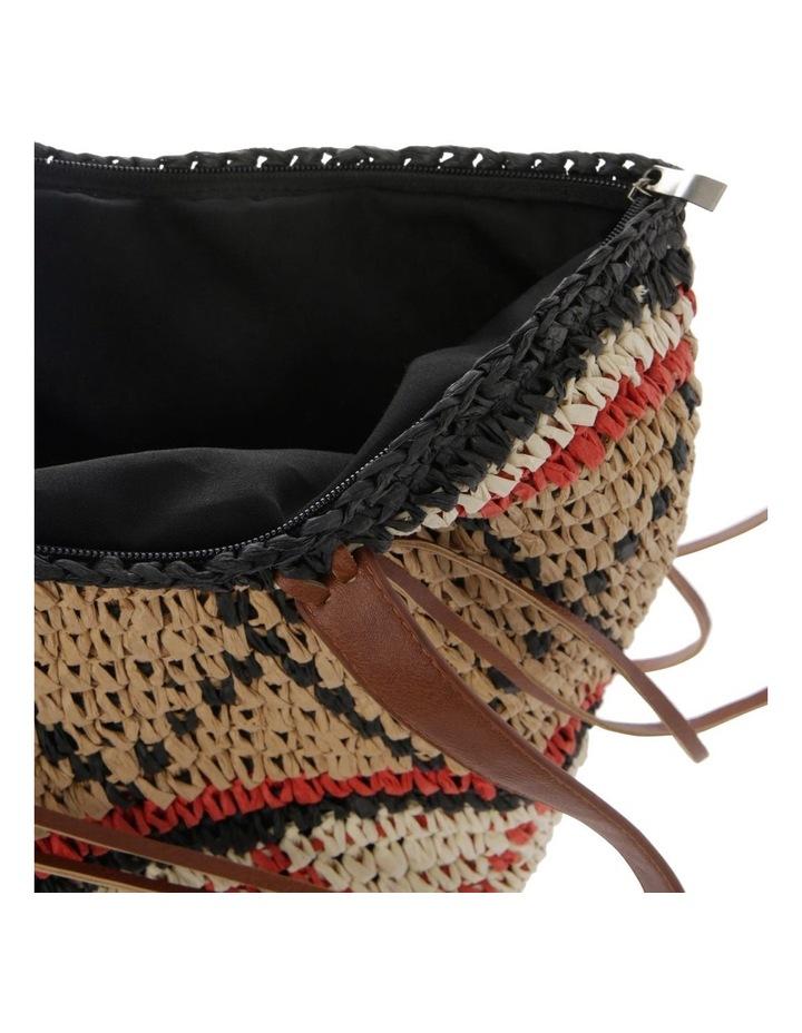 Multi Stripe Double Handle Tote Bag image 4