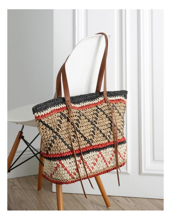 Multi Stripe Double Handle Tote Bag image 5