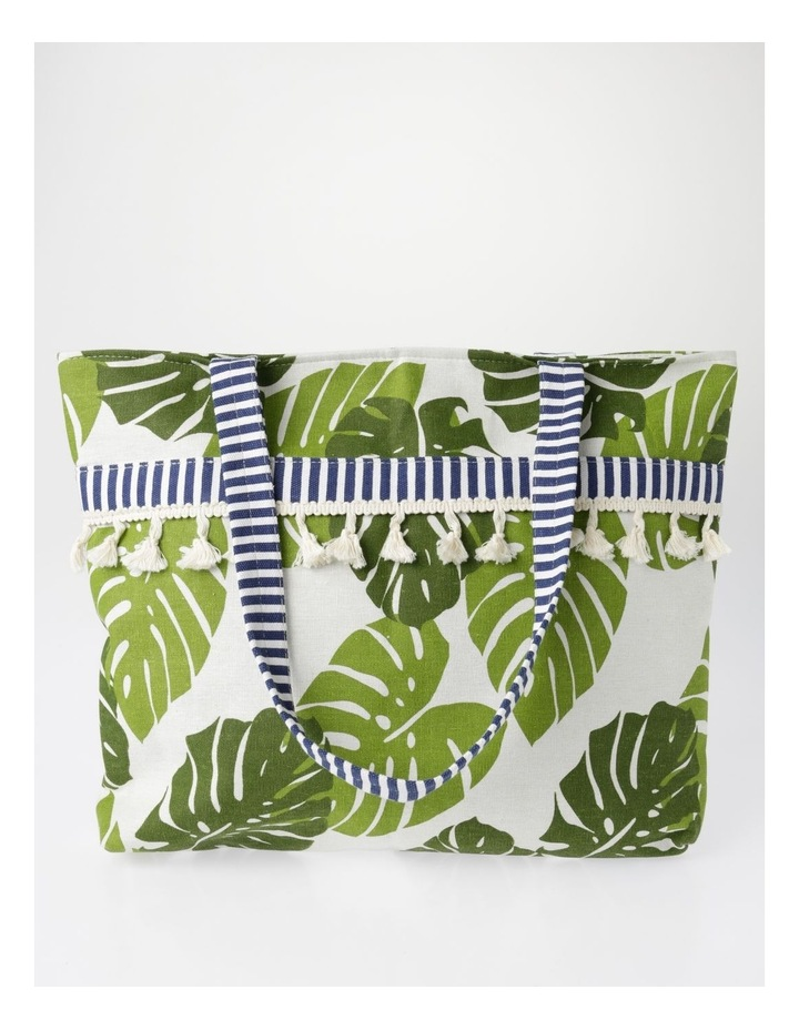Tropical Print Tote Green RBR009 image 1