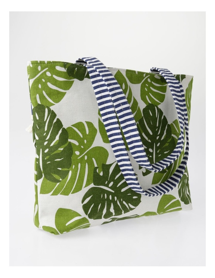 Tropical Print Tote Green RBR009 image 2