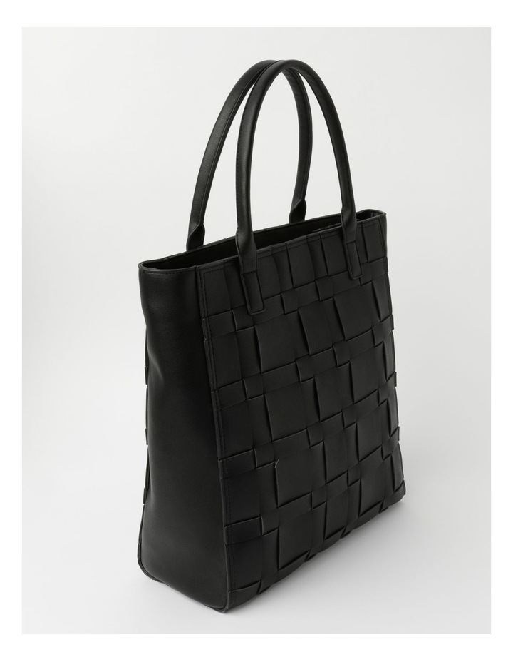 Nicola Black Double-Handle Tote image 2