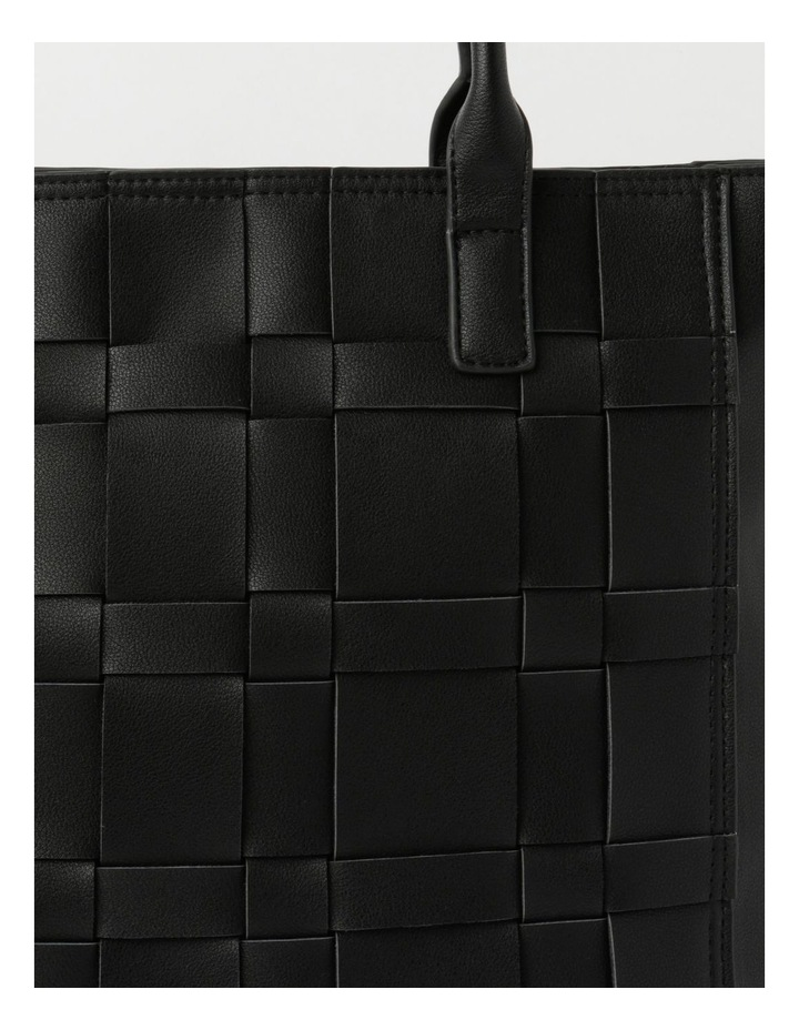 Nicola Black Double-Handle Tote image 3