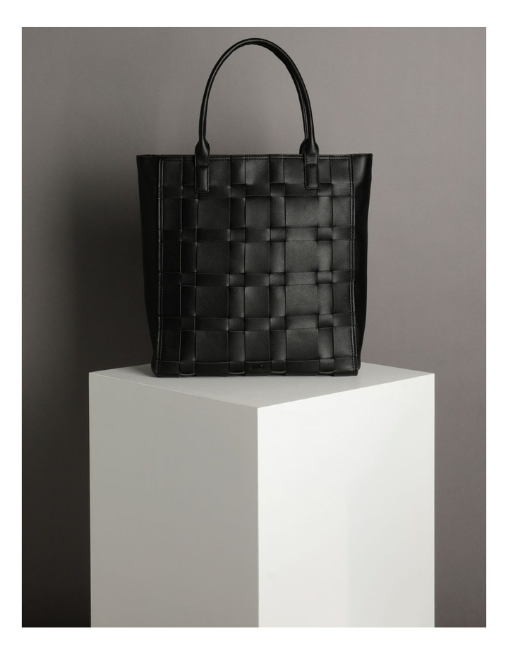 Nicola Black Double-Handle Tote image 5