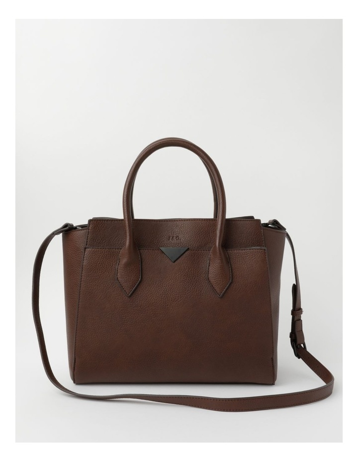 Robyn Chocolate Double-Handle Tote image 1