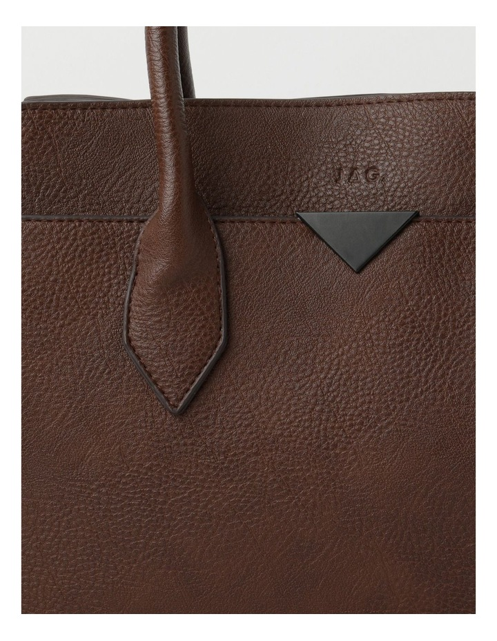 Robyn Chocolate Double-Handle Tote image 3