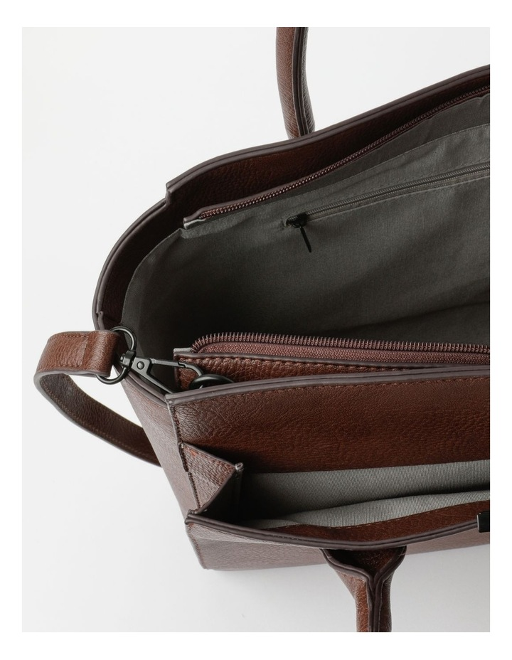 Robyn Chocolate Double-Handle Tote image 4