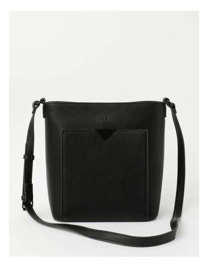 Robyn Black Zip-Top Shoulder Bag image 1