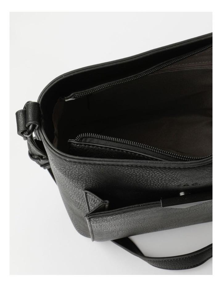 Robyn Black Zip-Top Shoulder Bag image 4