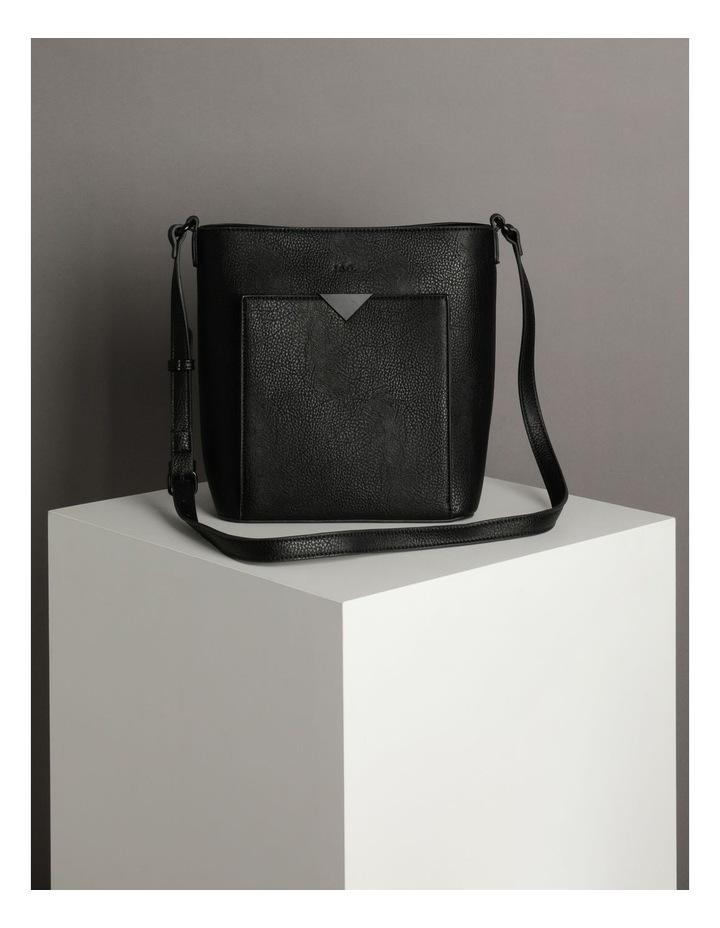 Robyn Black Zip-Top Shoulder Bag image 5
