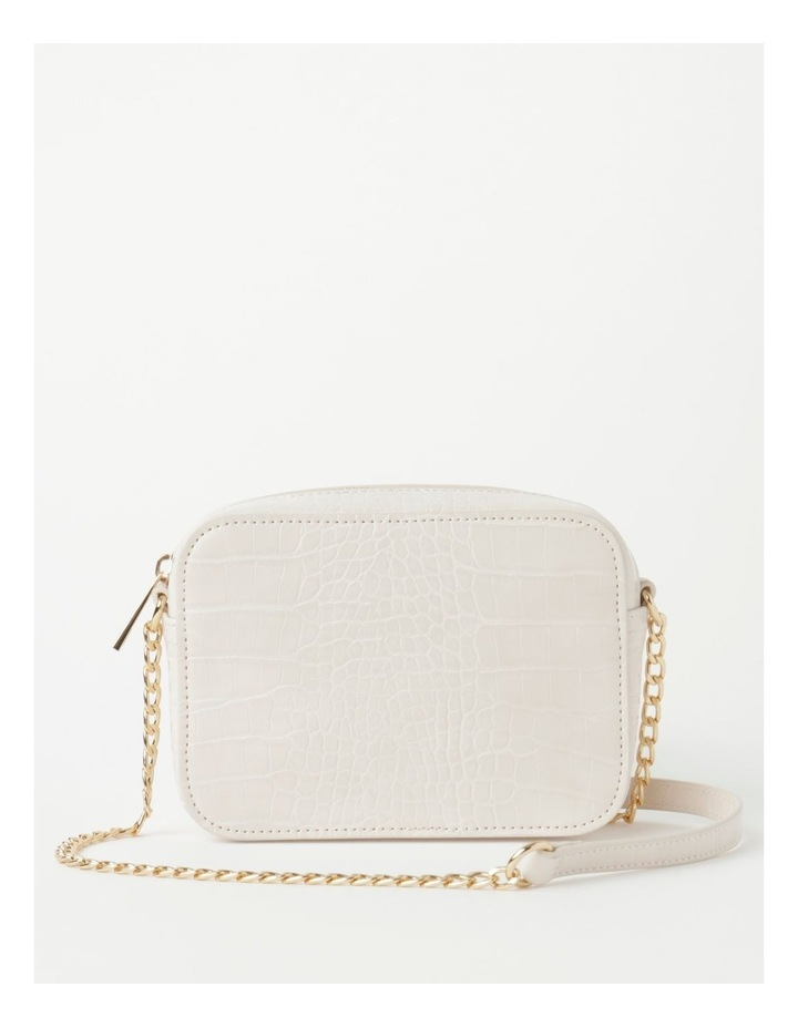 Croc Crossbody Bag With Gold Chain image 1