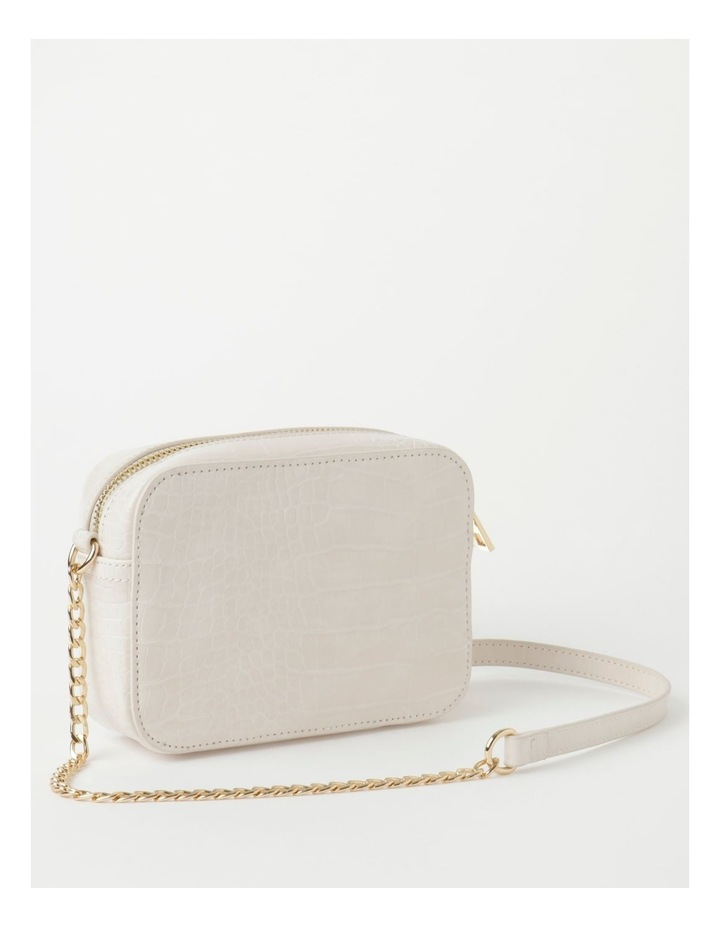 Croc Crossbody Bag With Gold Chain image 2