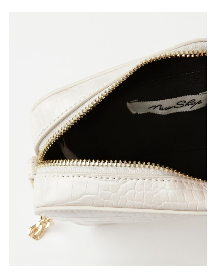 Croc Crossbody Bag With Gold Chain image 4