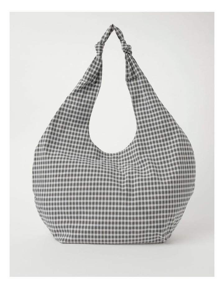 ID6177 Oversized Checked Hobo Tote Bag image 1