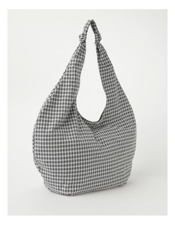 ID6177 Oversized Checked Hobo Tote Bag image 2
