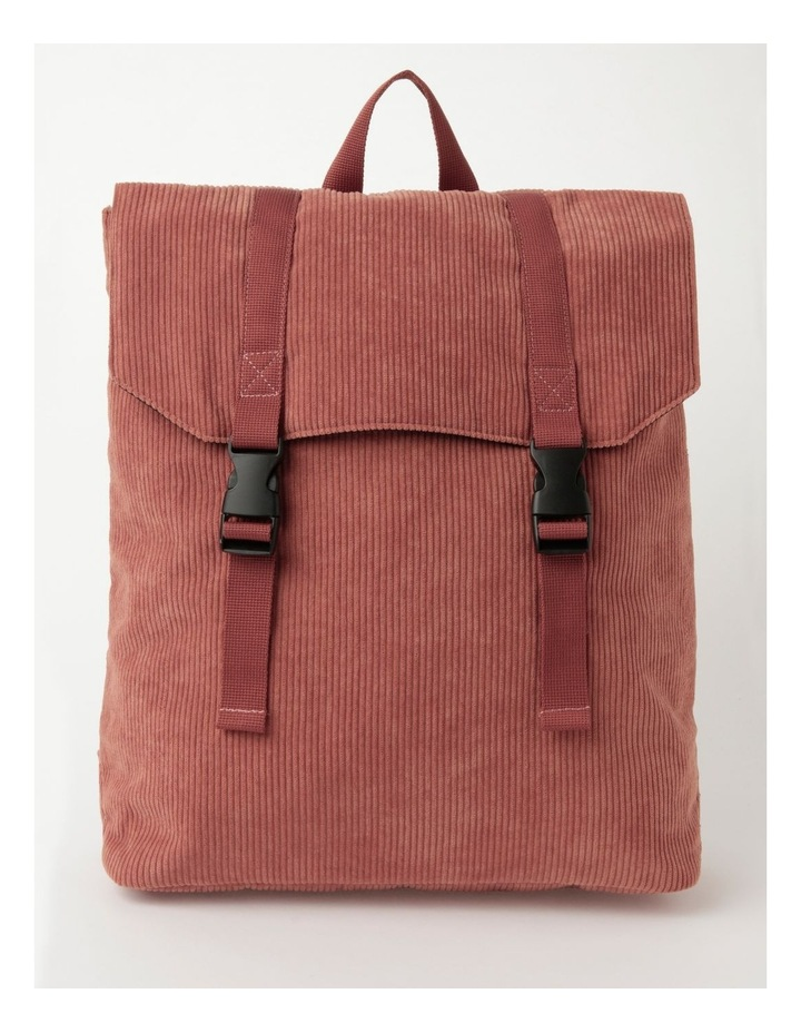 Corduroy Flap Over Backpack Bag image 1