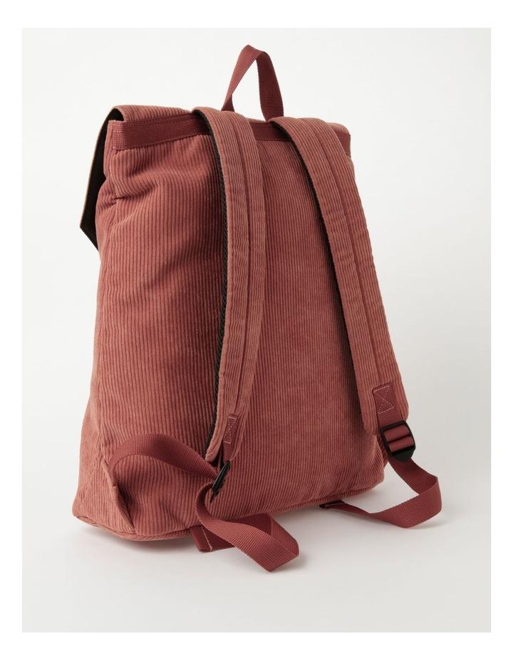 Corduroy Flap Over Backpack Bag image 2