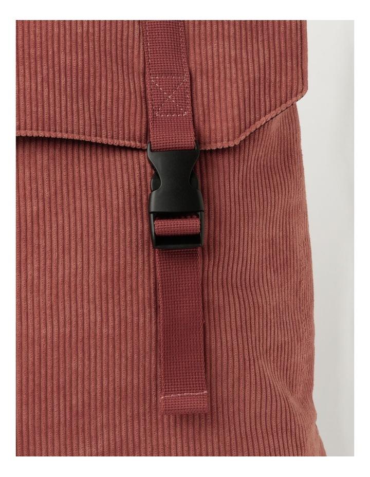 Corduroy Flap Over Backpack Bag image 3