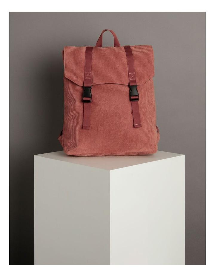 Corduroy Flap Over Backpack Bag image 5