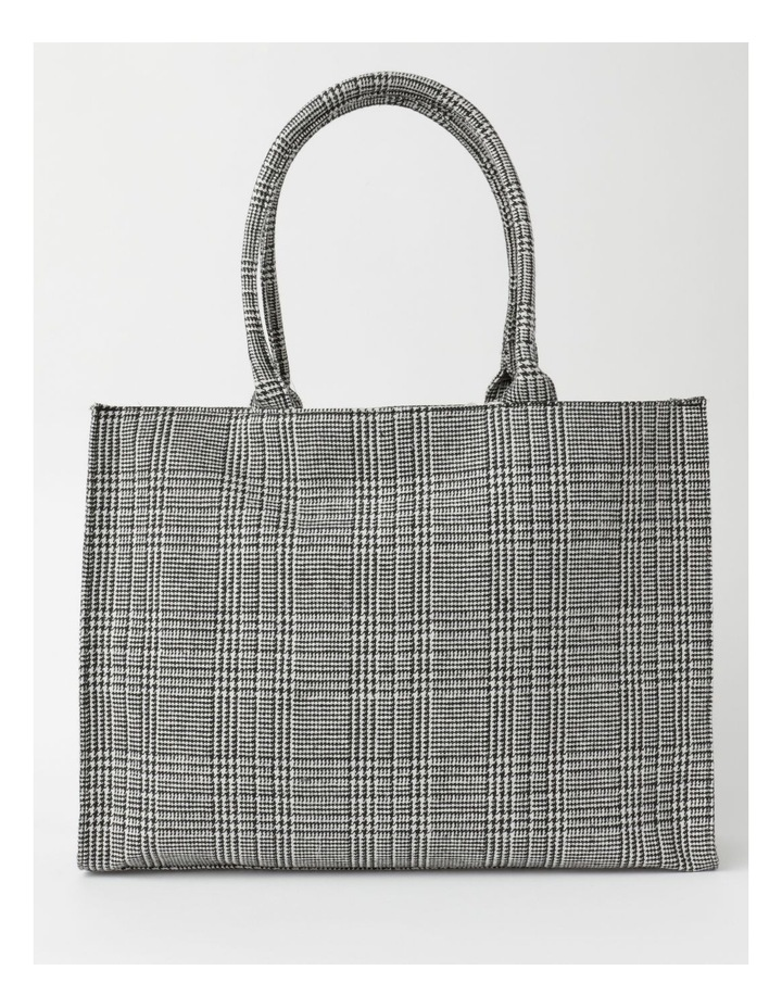 ID6209 Square Checked Large Tote Bag image 1