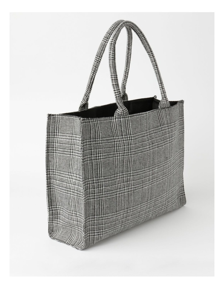 ID6209 Square Checked Large Tote Bag image 2