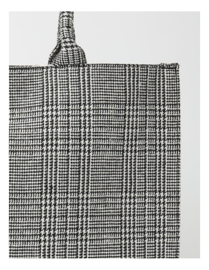 ID6209 Square Checked Large Tote Bag image 3