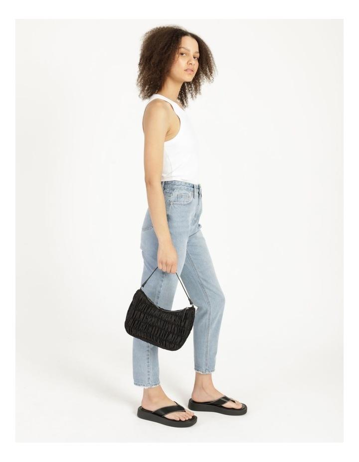 New York Black Baguette Shoulder Bag image 4