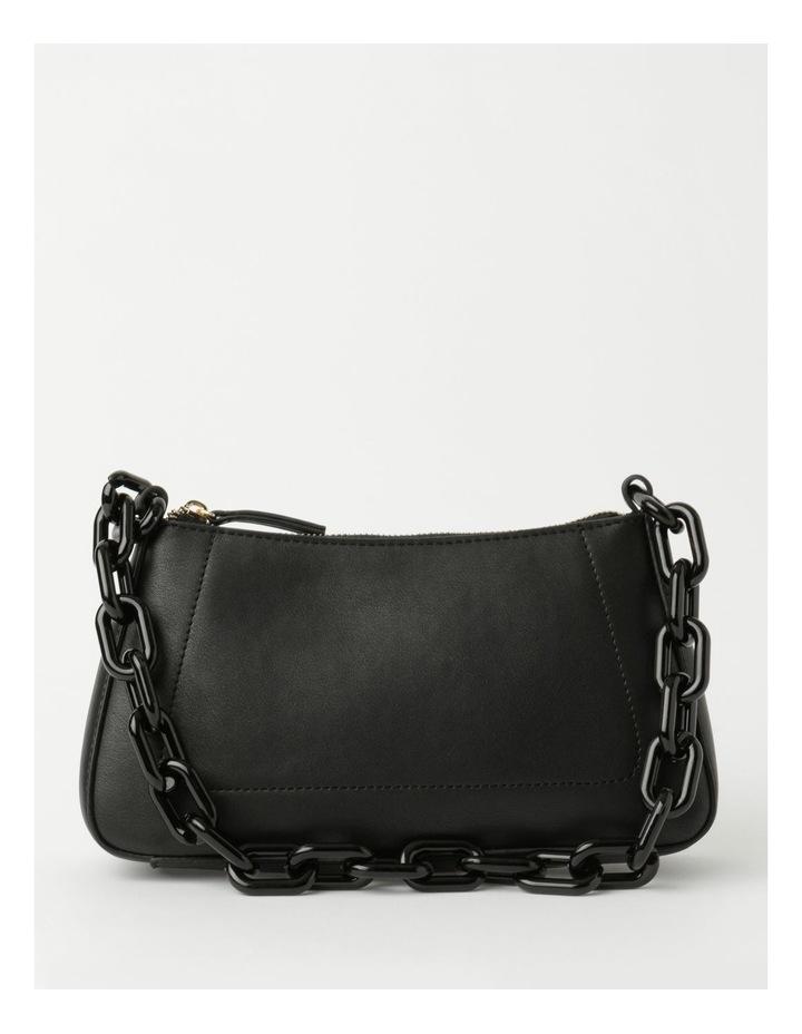 Vegas Black Baguette Shoulder Bag image 1