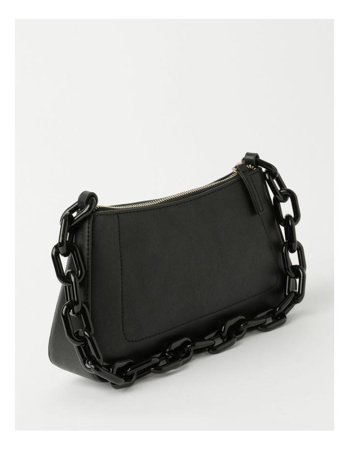 Vegas Black Baguette Shoulder Bag image 2