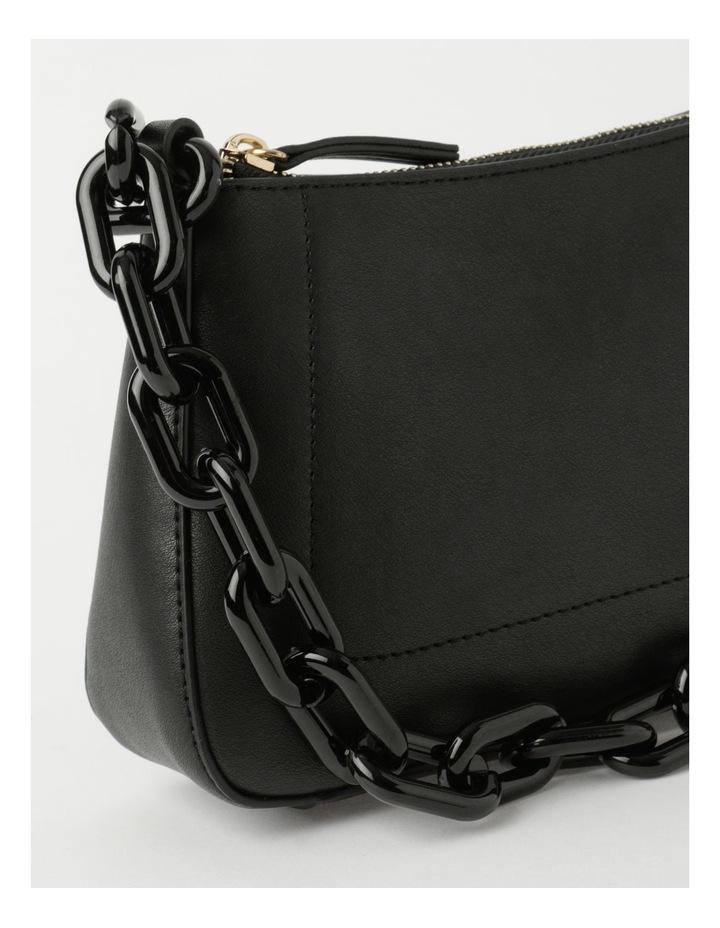 Vegas Black Baguette Shoulder Bag image 3