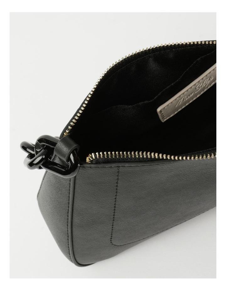 Vegas Black Baguette Shoulder Bag image 4