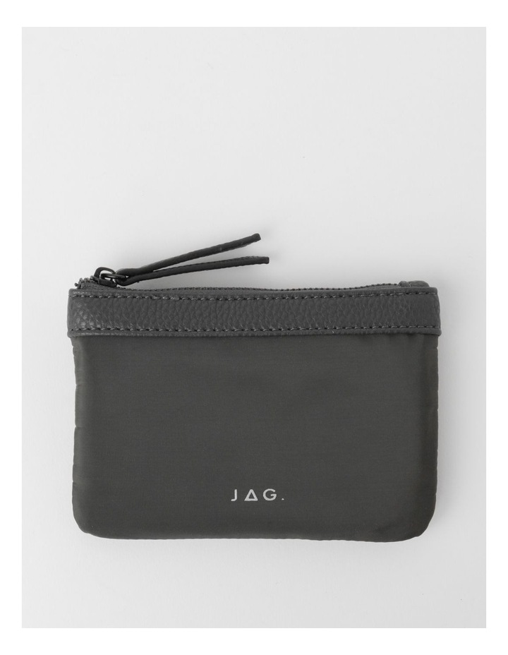 Audrey Zip-Top Charcoal Coin Purse image 1