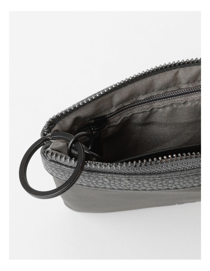 Audrey Zip-Top Charcoal Coin Purse image 3