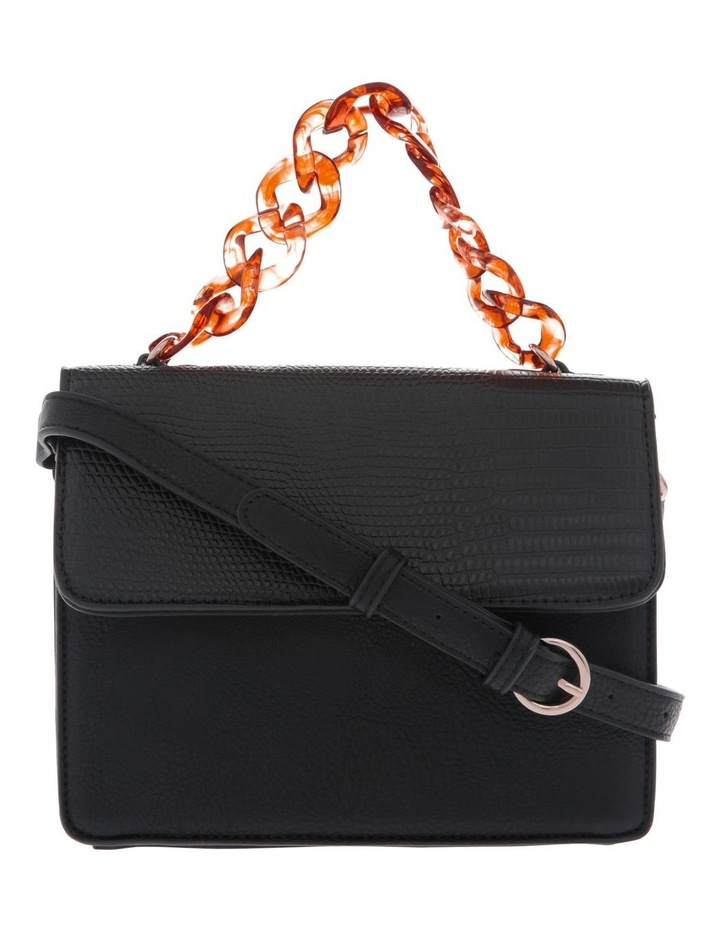 Marnie Black Flap-Over Crossbody Bag image 1