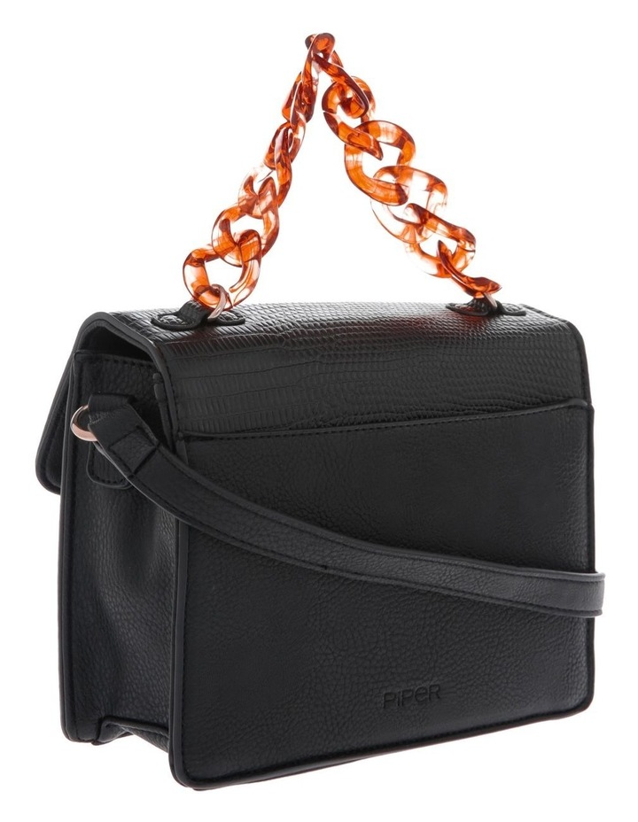 Marnie Black Flap-Over Crossbody Bag image 2